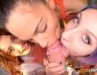 La fiesta lésbica de Apolonia y Penélope Cum 3
