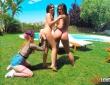 Amirah Adara, Anina Silk y Misha Cross en una escena porno 3
