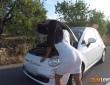 Apolonia y Sasha Blonnde se lo montan en el coche 1
