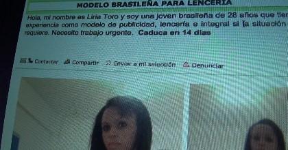 La modelo brasilena en paro